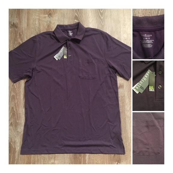 NWT VAN HEUSEN Men/'s Sizes Medium and Large Gray Polo w//Black Diamond Pattern